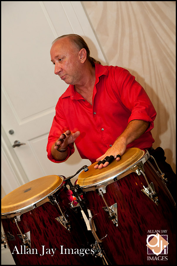 Dave the Animal on the congas